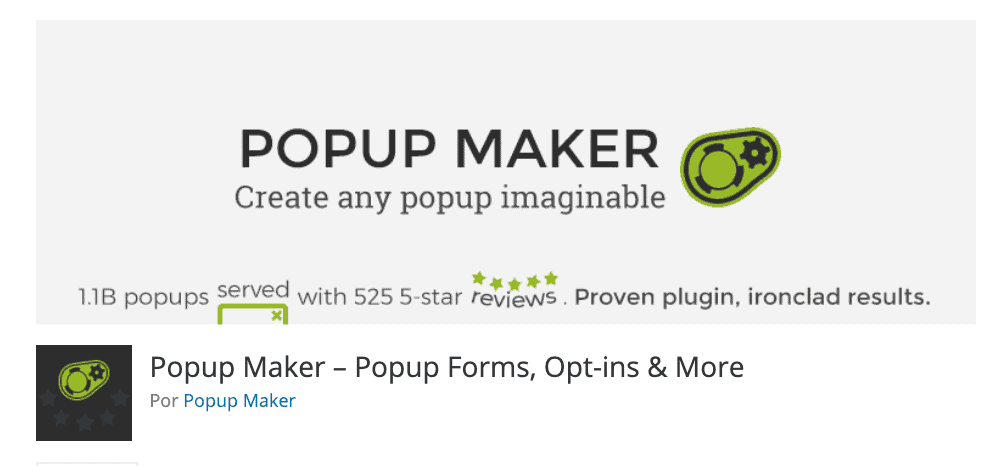 Plugin pop up maker