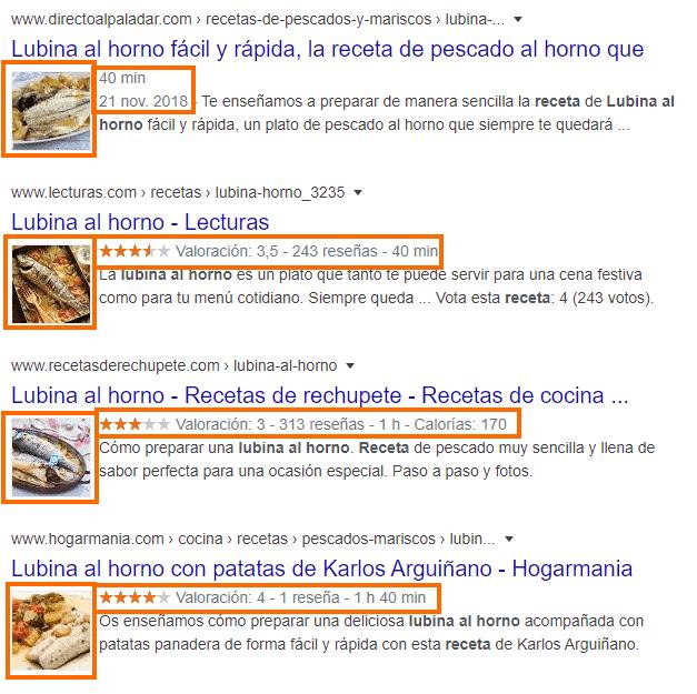 Resultados enriquecidos ejemplo lubina
