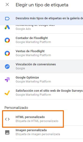 Google Tag Manager Html Personalizado