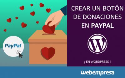 Crear un botón de donaciones de Paypal en WordPress