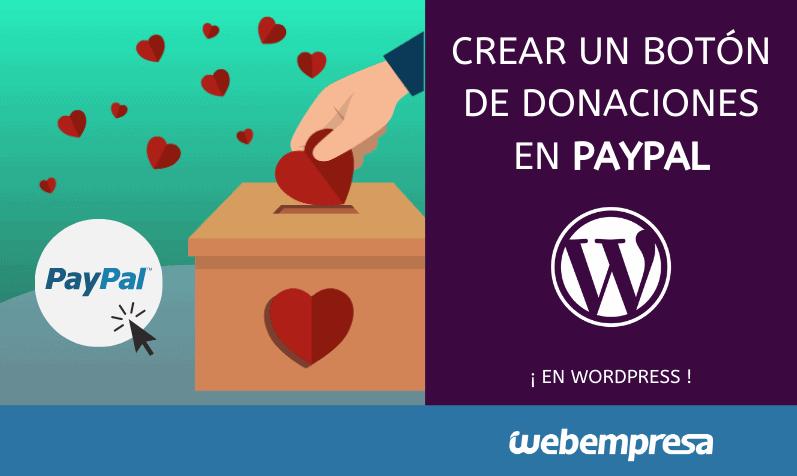 Crear un botón de donaciones en Paypal