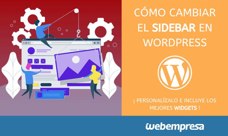 Cómo cambiar sidebar en WordPress