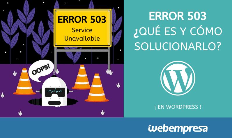 Error 503, qué significa y cómo solucionarlo