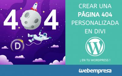 Crear una página 404 en Divi personalizada