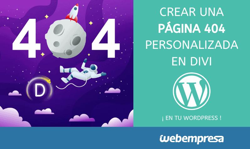 Crear una página 404 personalizada en Divi