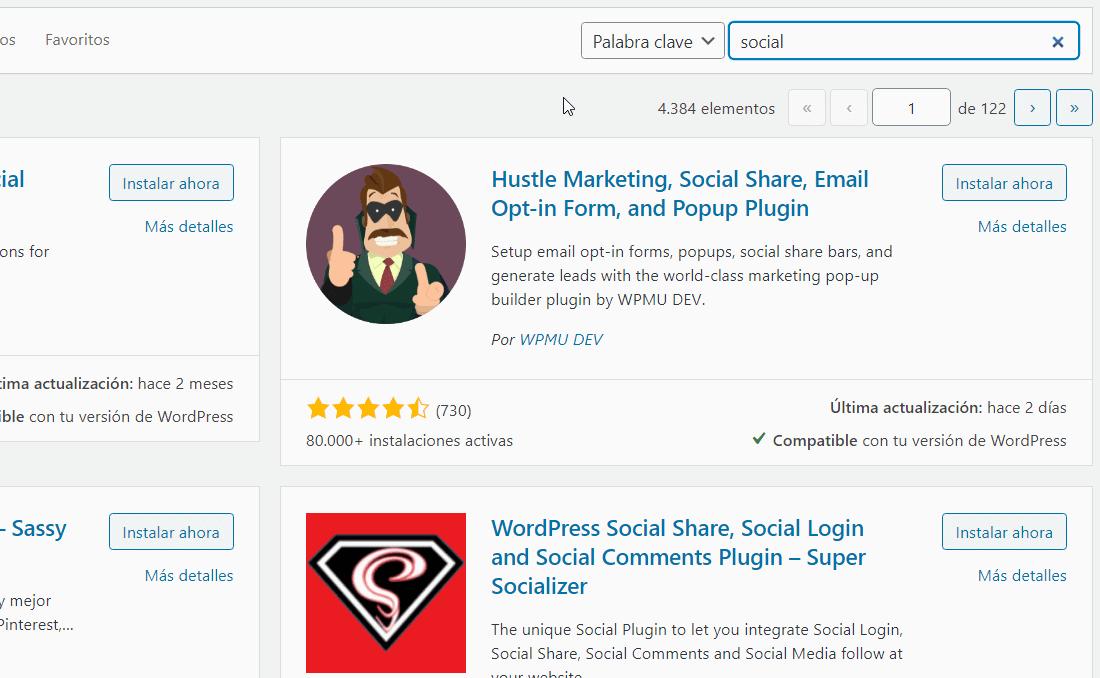 Plugins social