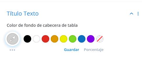 Color título texto