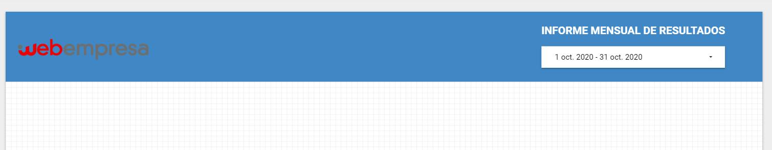 Cabecera Informe Google Data Estudio