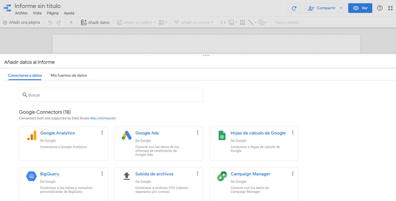 Crear Google Data Estudio de cero