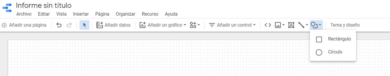 Insertar recuadro Informe Google Data Estudio