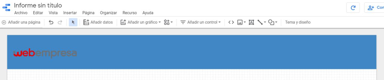 Subir logo Informe Google Data Estudio