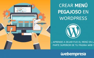 Crear menú pegajoso en WordPress