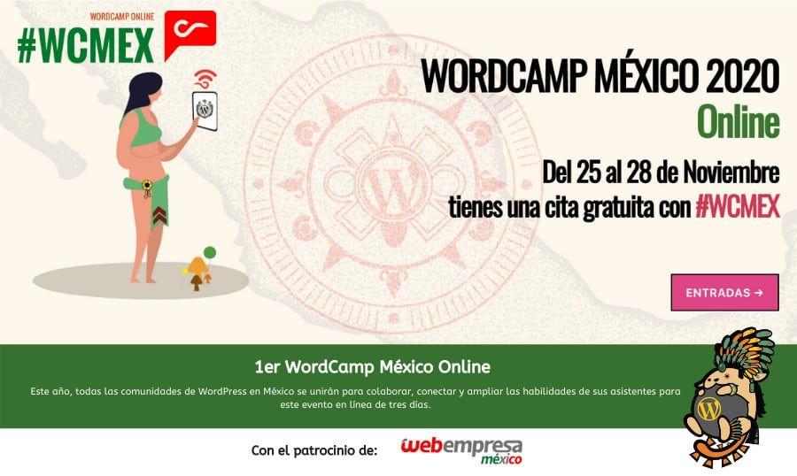 WordCamp México 2020 online