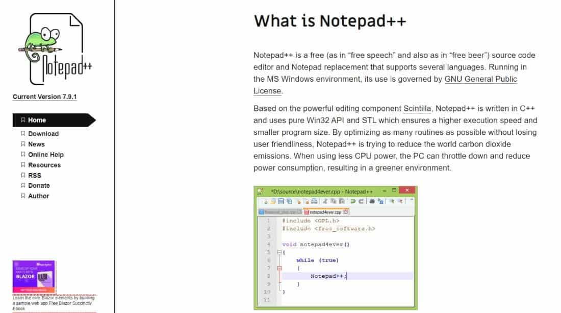 Notepad ++ editor de html