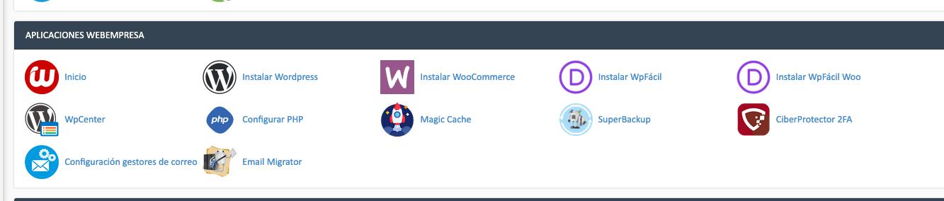 Plataforma para crear una web