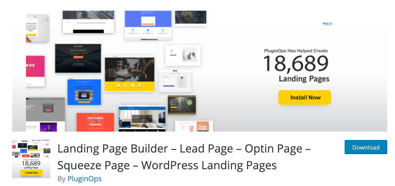 Plugin Landing Page Builder WordPress