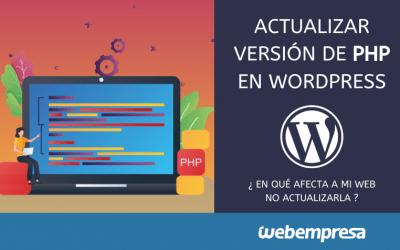 Actualizar versión de PHP WordPress