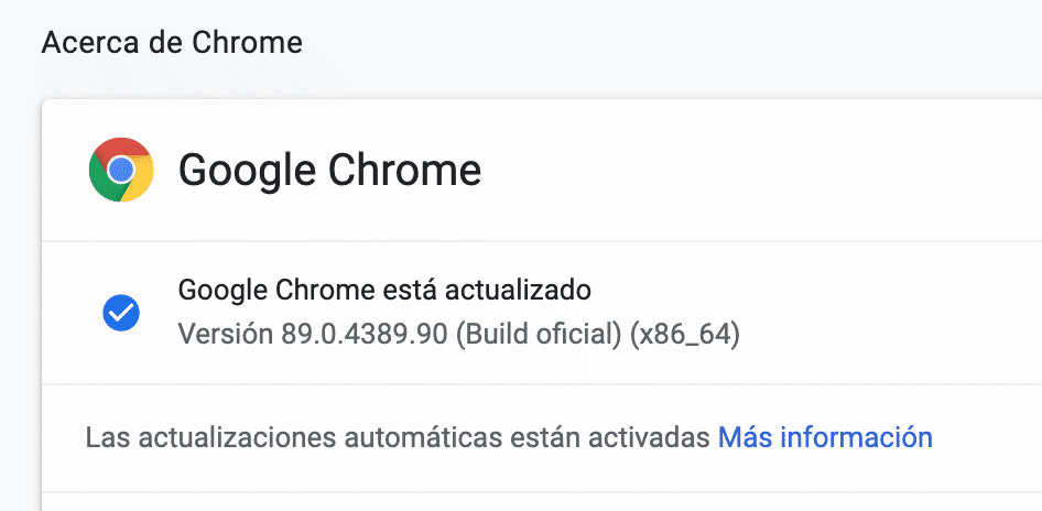 Actualizar Google Chrome