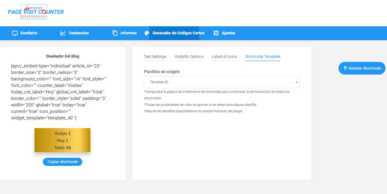 Cómo poner el contador Page Visit Counter en WordPress