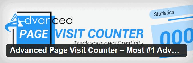 Contador de visitas WordPress con el plugin Advanced Page Visit Counter