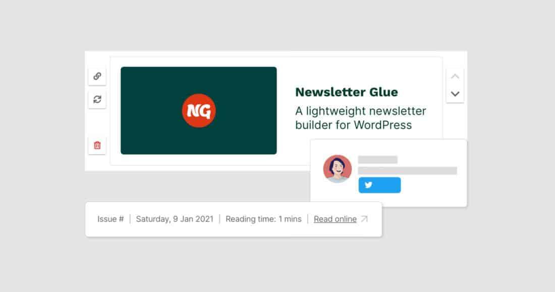Plugin newsletter glue para la suscripción de newsletter en WordPress