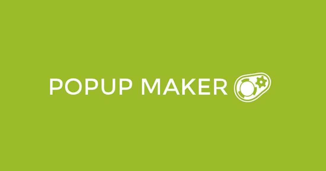 Plugin popup maker para la suscripción de newsletter en WordPress