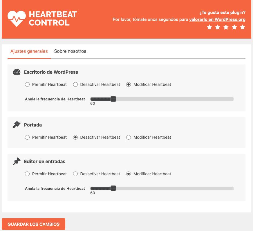 Optimizar Heartbeat Control