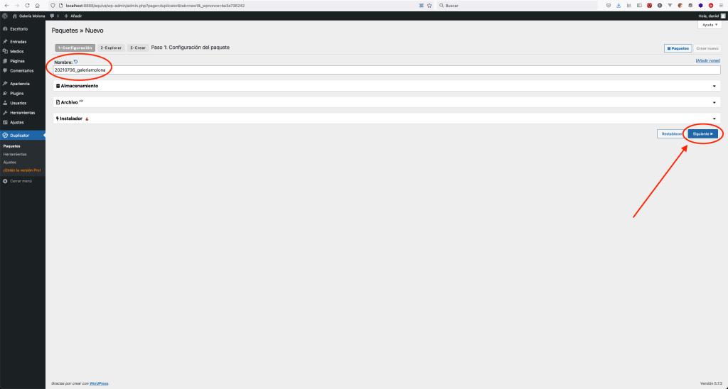 Subir WordPress con Duplicator