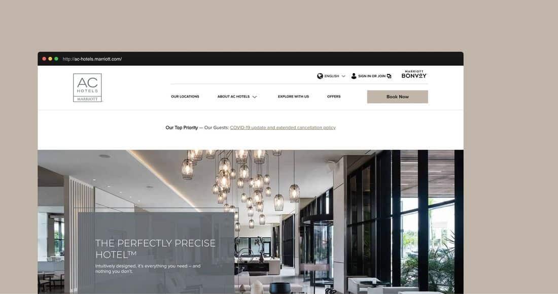 Página web AC Hotels