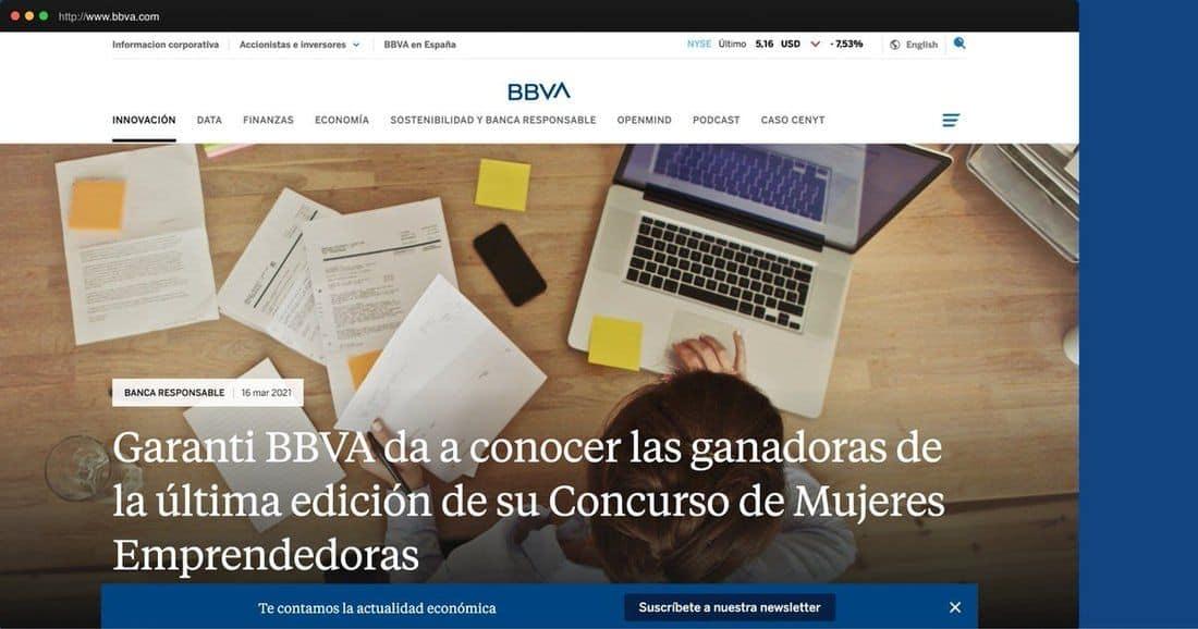 Página web BBVA