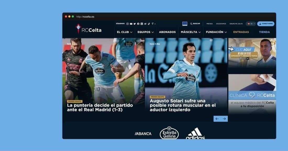 Página web RC Celta