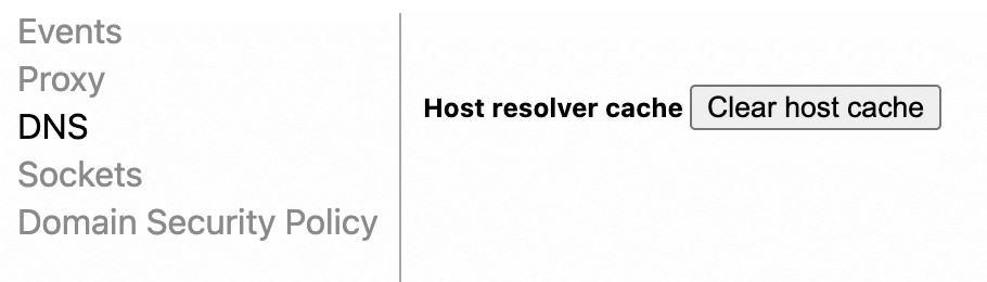Limpiar cache host Google Chrome