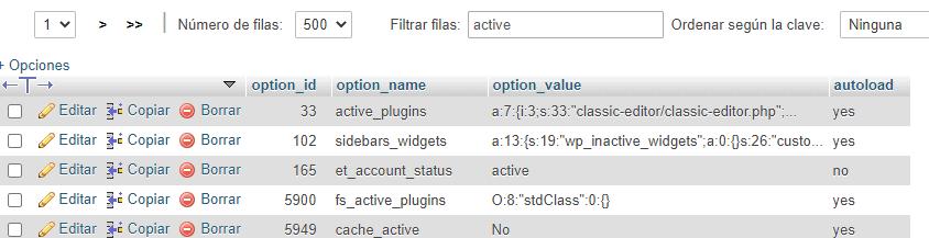 Desactivar plugins WordPress codificación