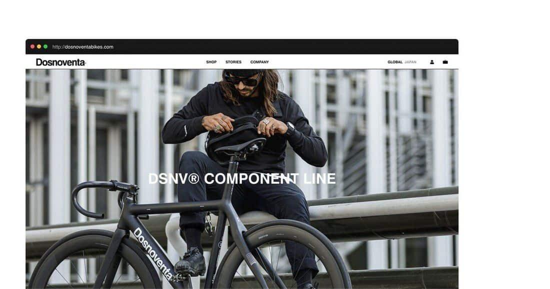 Página web dos noventa bikes