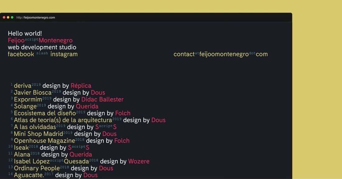 Página web Feijoo & Montenegro