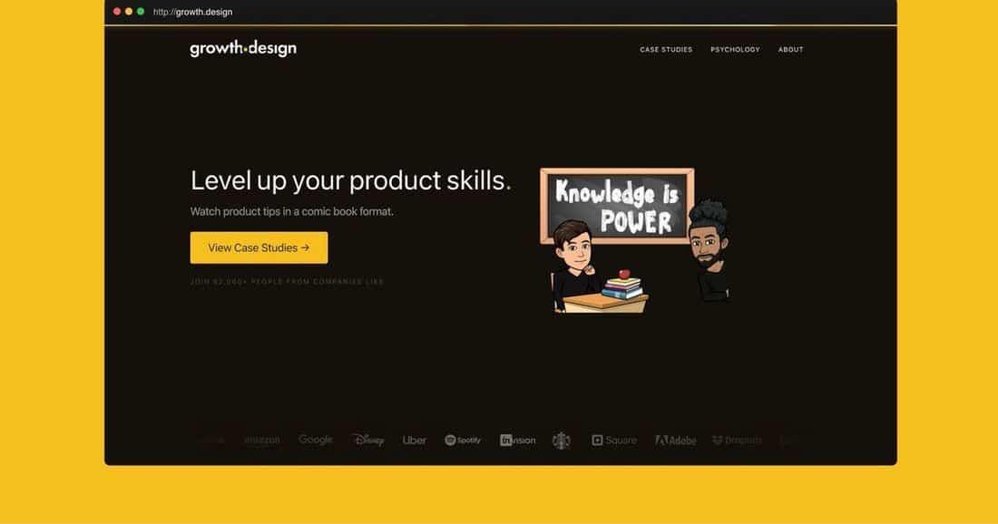 Página web Growth Design