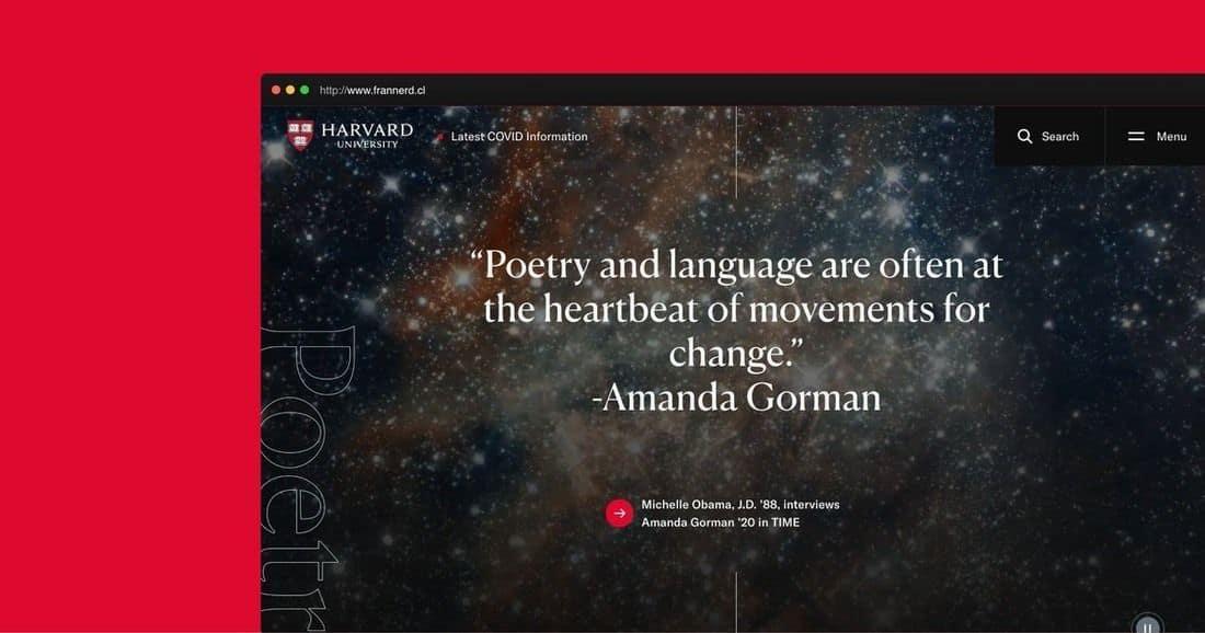 Página web Harvard
