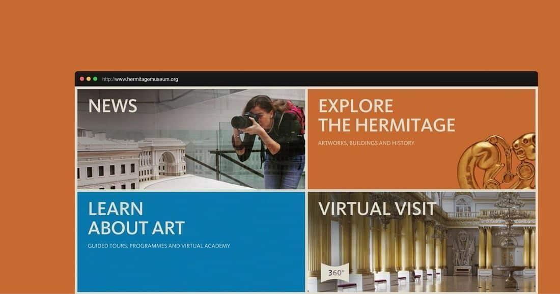 Página web museo del Hermitage