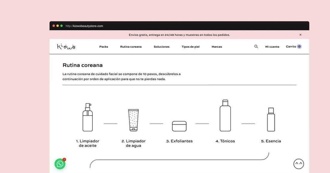 Página web Kiowo