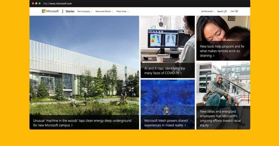 Página web Microsoft