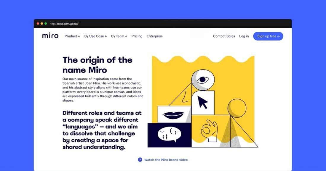 Página web Miro