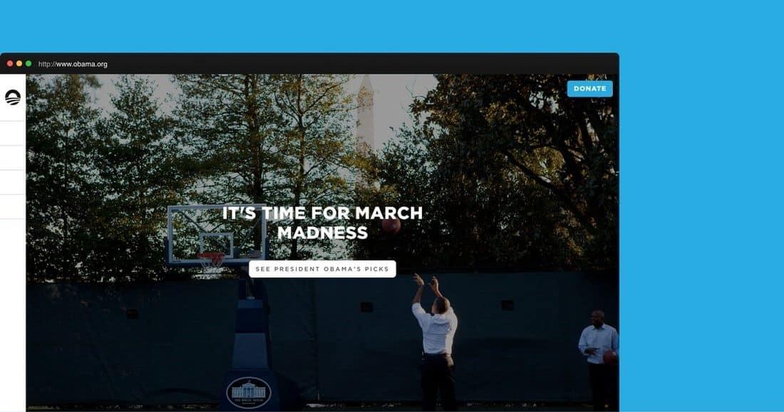 Página web de OBAMA