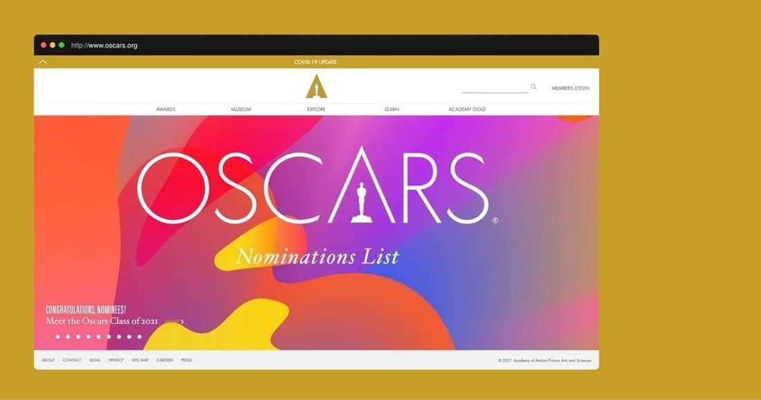 Página web the Oscars