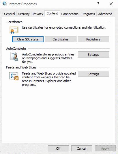 Propiedades Internet Windows