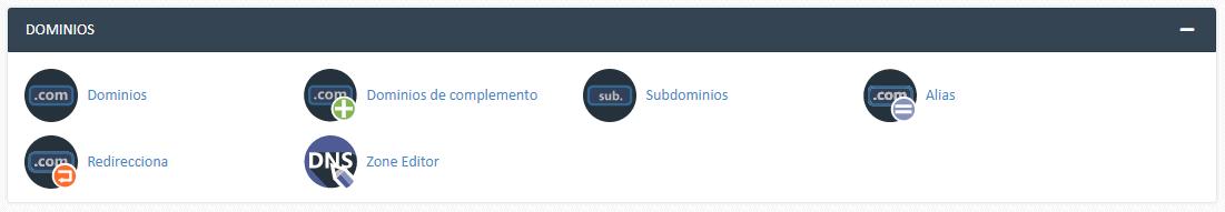 dominios CPanel