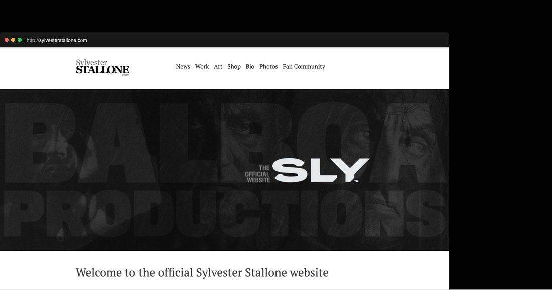 Página web Sylvester Stallone