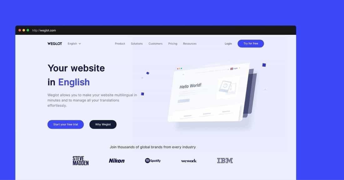 Página web Weglot