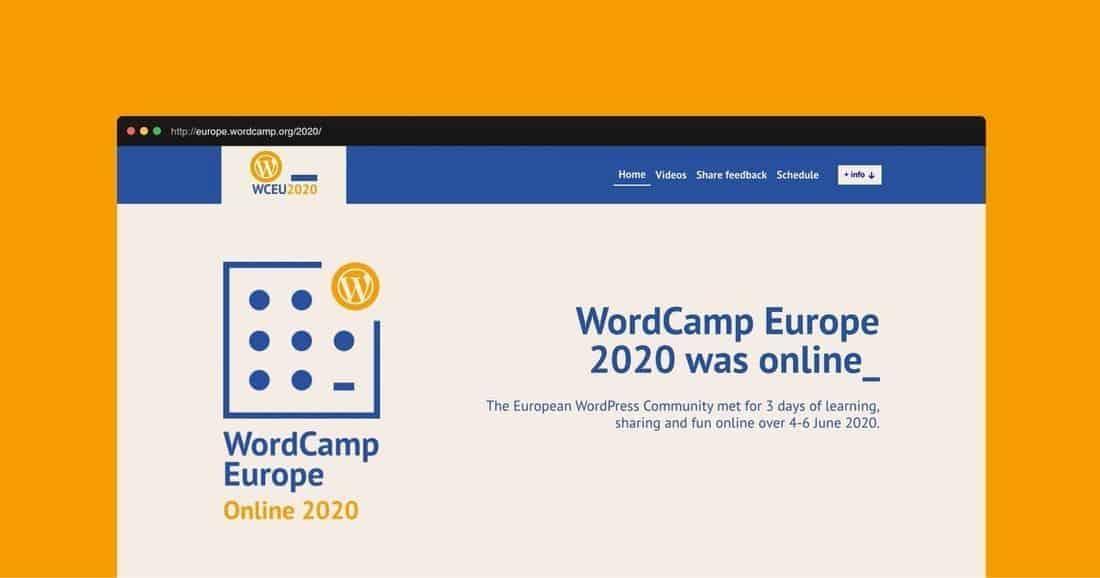 Página web WordCamp Europa