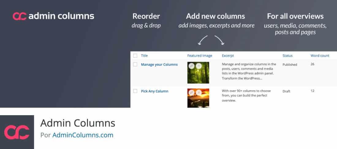 Plugin Admin Columns