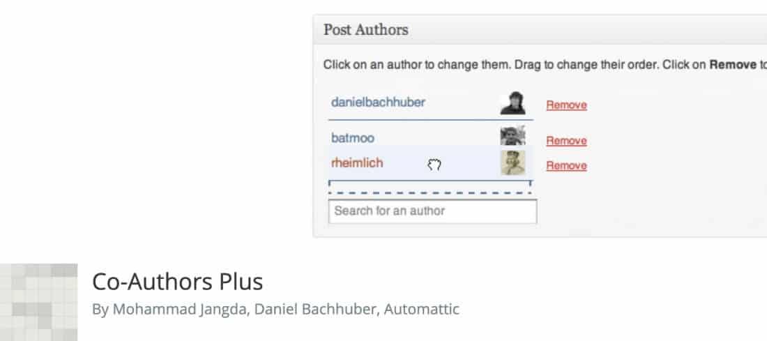 Plugin Co-Authors Plus